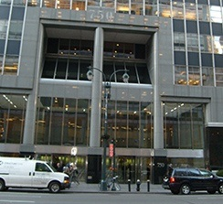 A photo of the front of the building at 750 Third Avenue, New York, NY